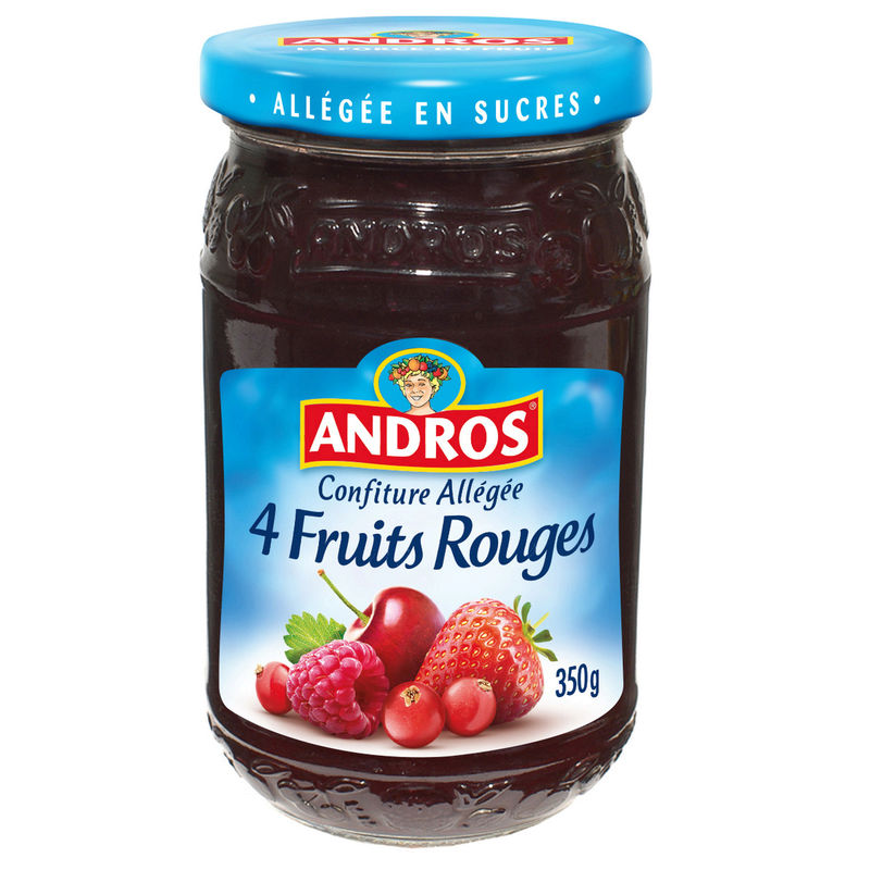 Confiture 4 Fruits Allegee 350