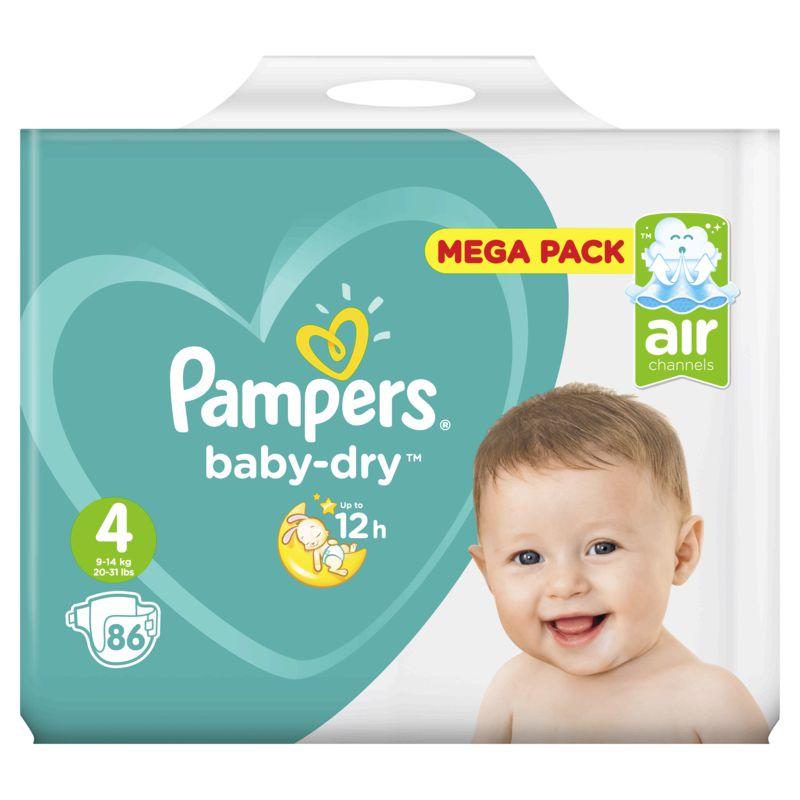 Pampers Baby Dry Mega T4x86