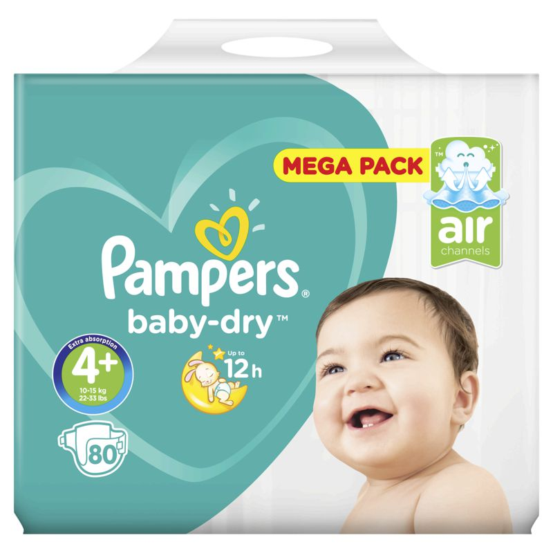 Pampers Baby Dry Mega T4x80