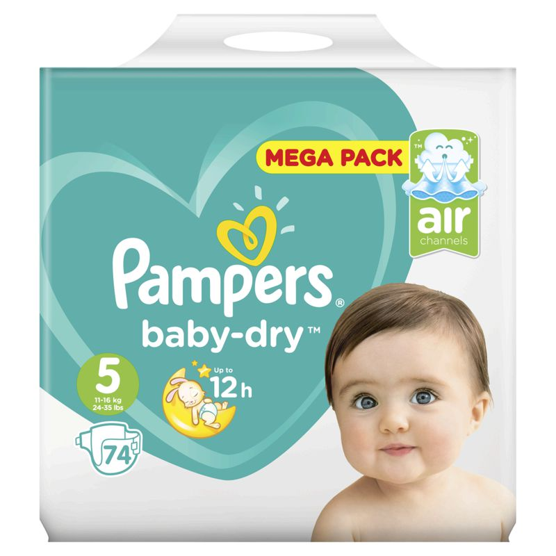 Pampers Baby Dry Mega T5x74