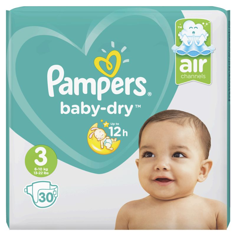 Pampers Baby Dry Paquet T3x30