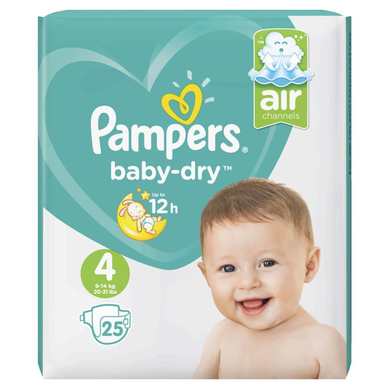 Pampers Baby Dry Paquet T4x25