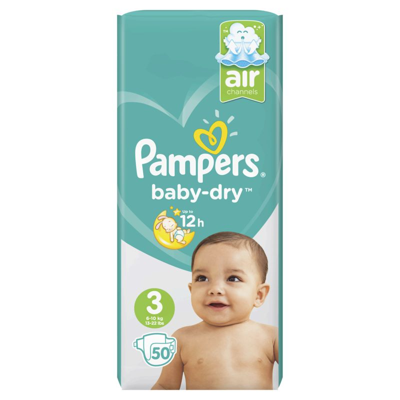 Pampers Baby Dry Geant T3x50