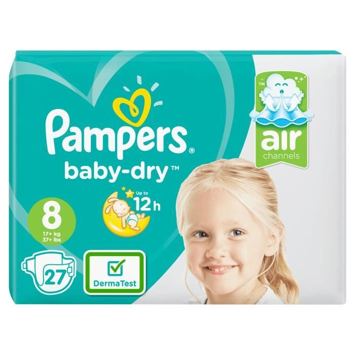Pampers Babydry Geant T8 X27