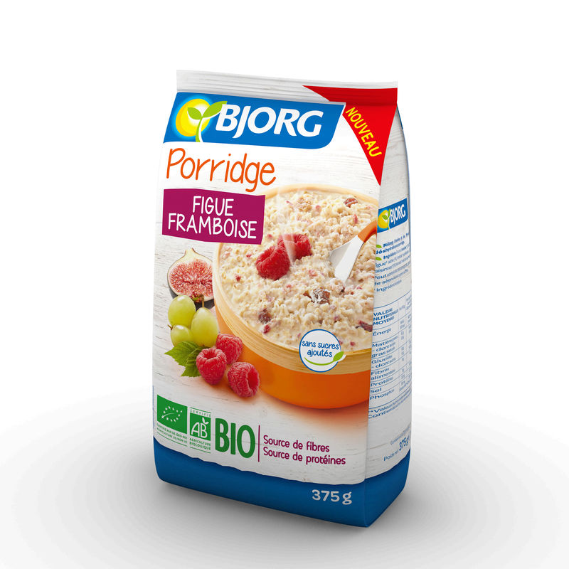 Porridge Fig.framb.375g Bio