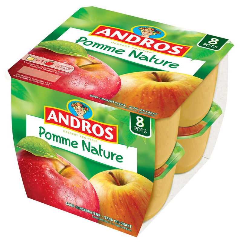 Andros Df Pommes Nat.8x100g