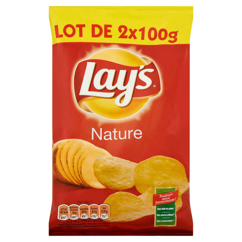 Chips Lays Nature 2x100g