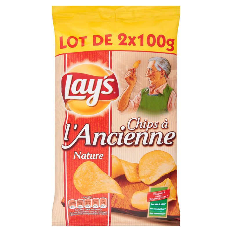 Chips A L Ancienne 2x100g