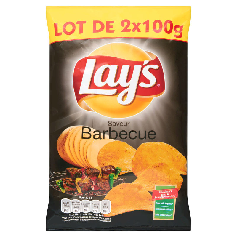 Chips Barbecue 2x100g