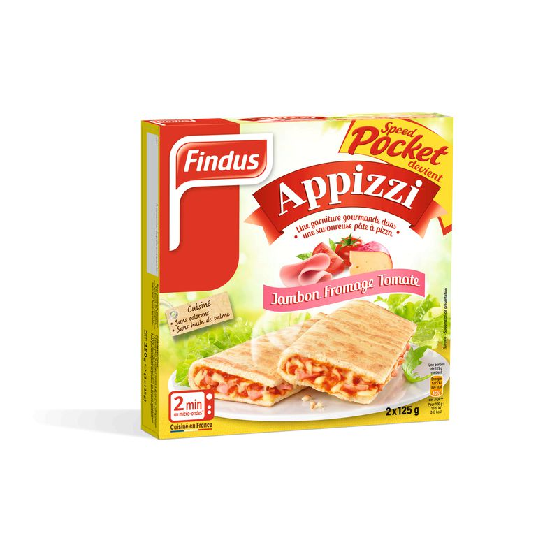 Appizzi Jambon Fromage 250g