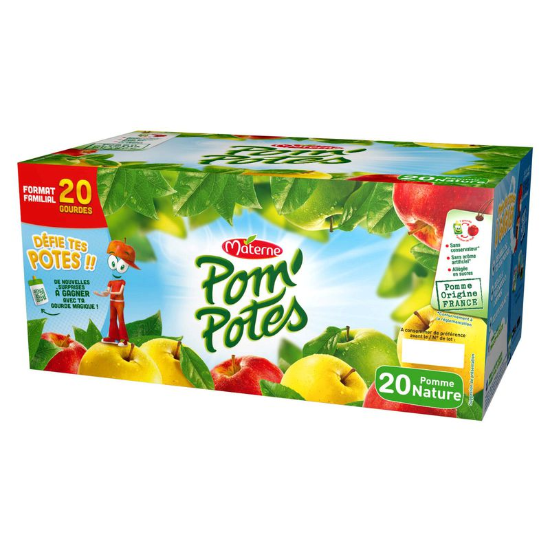 Pompotes Pomme Nature20x90g