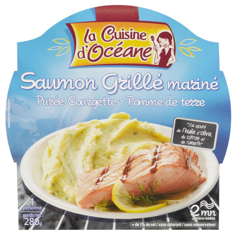 Saum.grille Puree Courg.280g