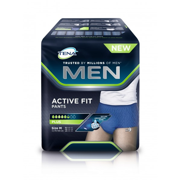 Tena Men Activ Fits Medium X9