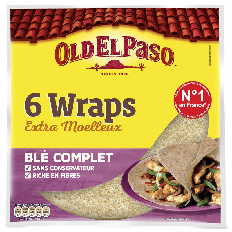 Wraps Ble Complet 350g Oep