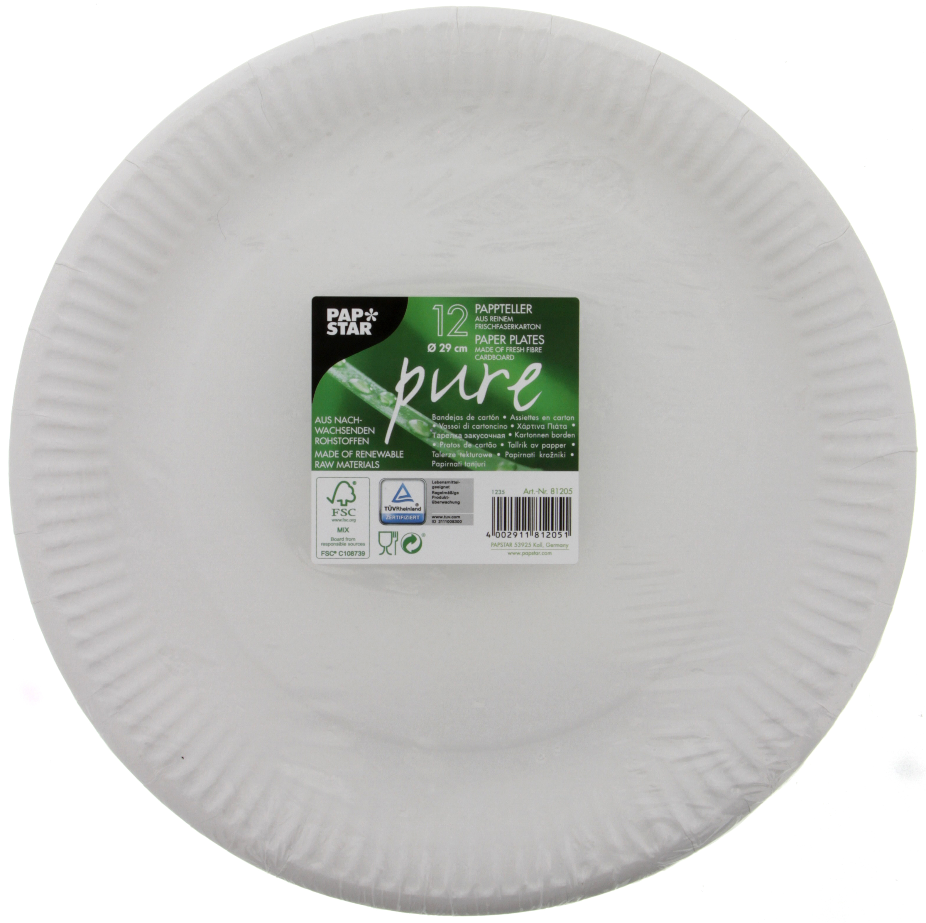 12 Ass Carton Pure 29cm Blanc