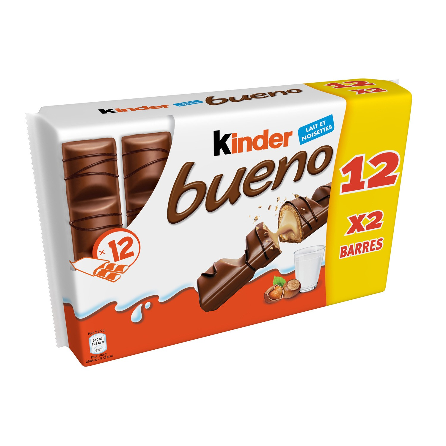 Kinder Bueno T2x12 Pack 516g