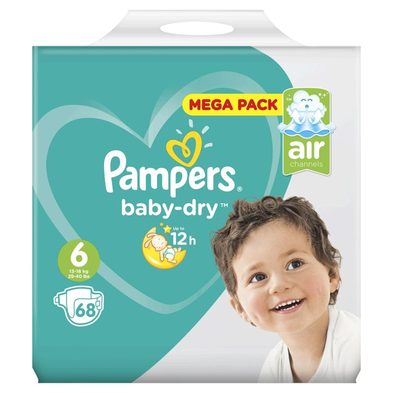 Pampers Baby Dry Mega T6x68