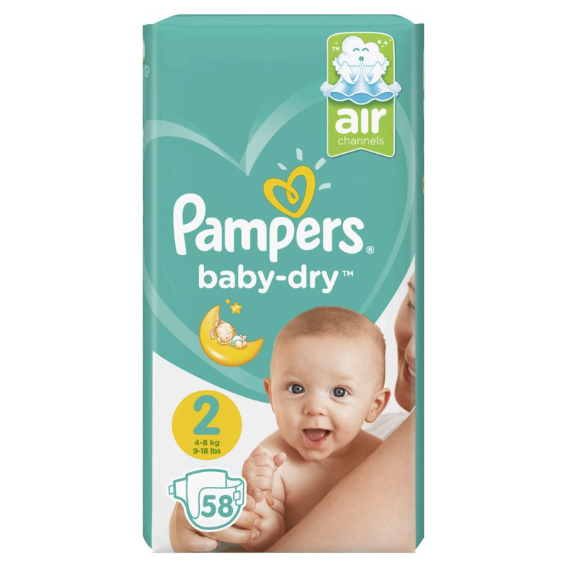 Pampers Baby Dry Geant T2x58