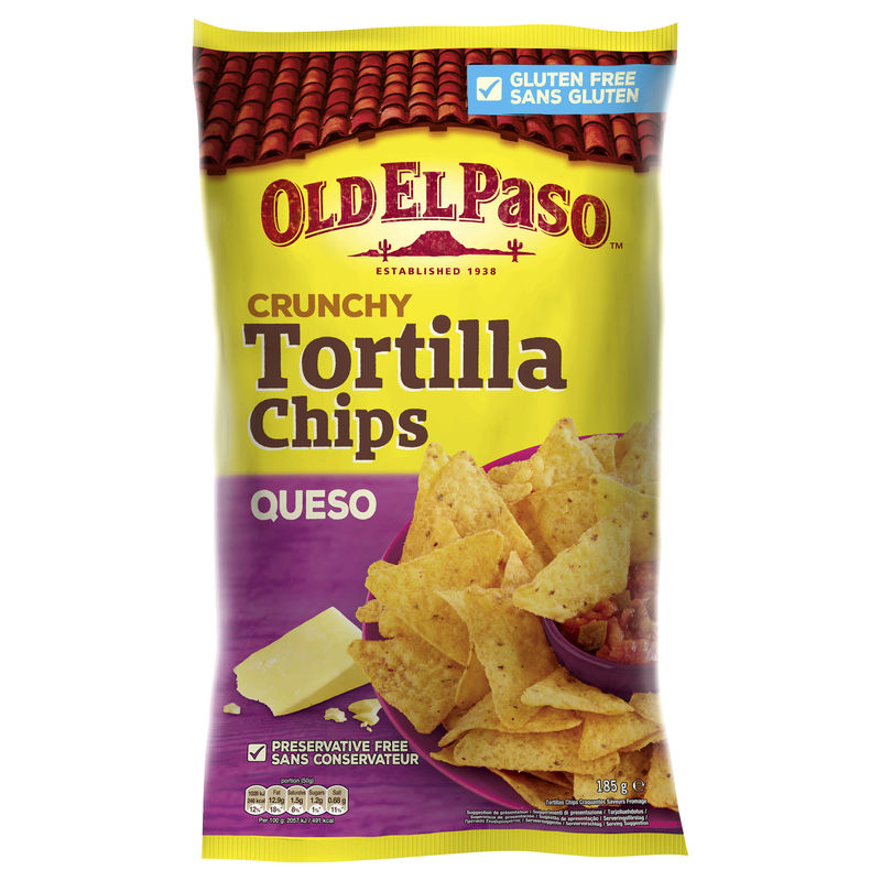 Oep Crunchy Queso Tortil Chips