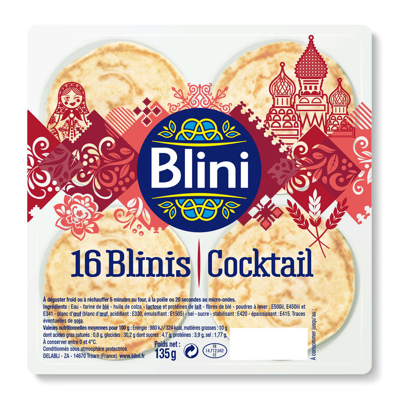 Blinis Cocktail X16 135g