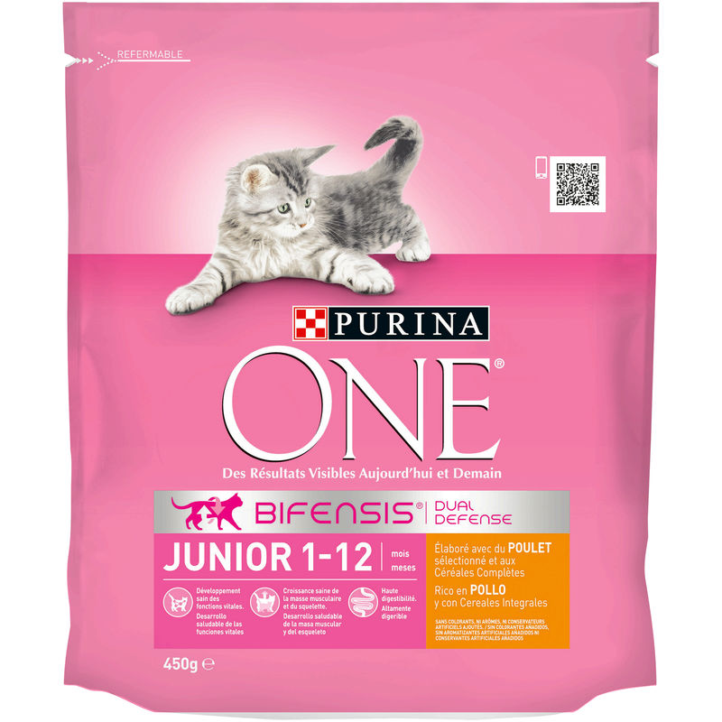 One Sec Chat Jr Poulet 450g