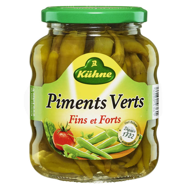 Kuhne Piments Vert Fort 165g
