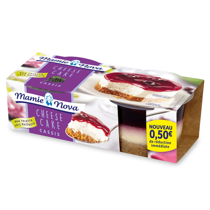 Mn Cheese Cake Cassis 2 X100g