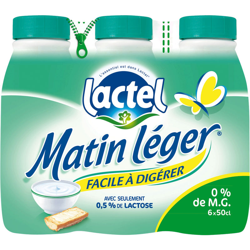 Lactel Mat.leger 0g Bp 6x50cl