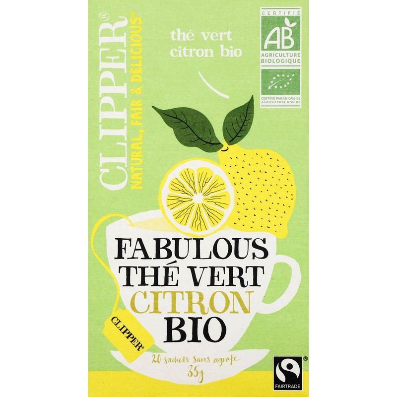 Clipper The Vert Citron Bio35g