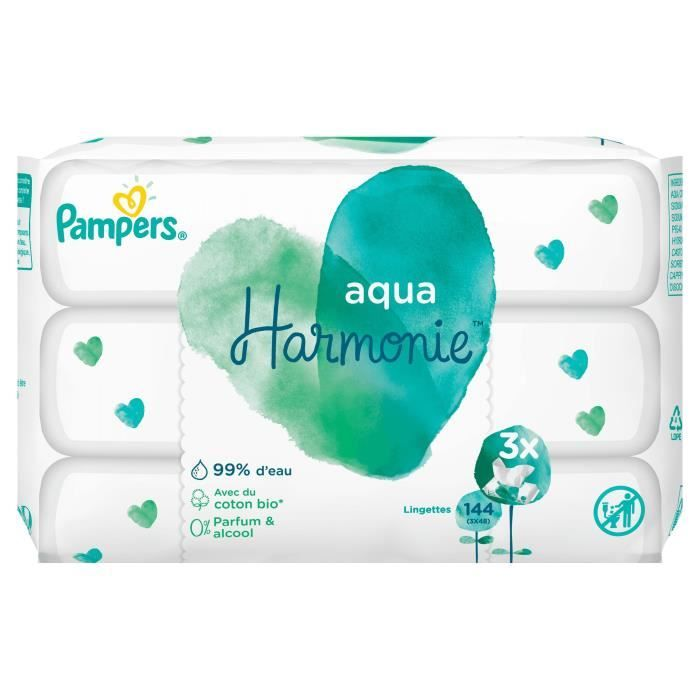 Pampers Harmonie Wipes 3x48