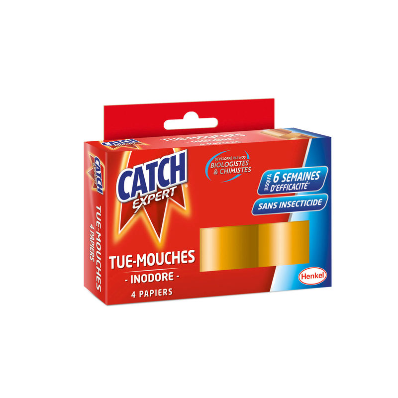 Catch Papier Tue-mouches X4