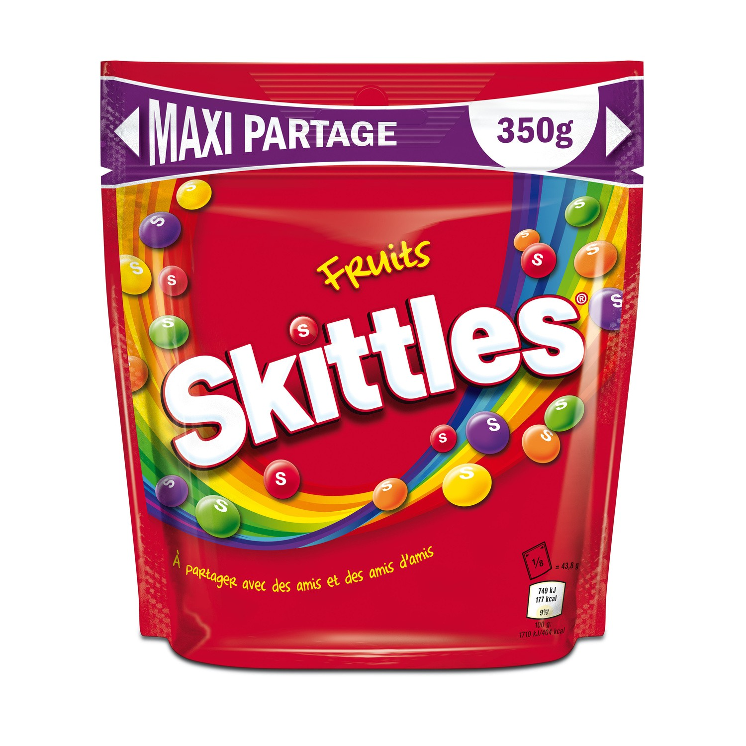 Skittles Fruits Maxi Pochon 35