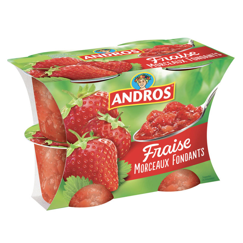 Andros Delice Fraise 4x100g