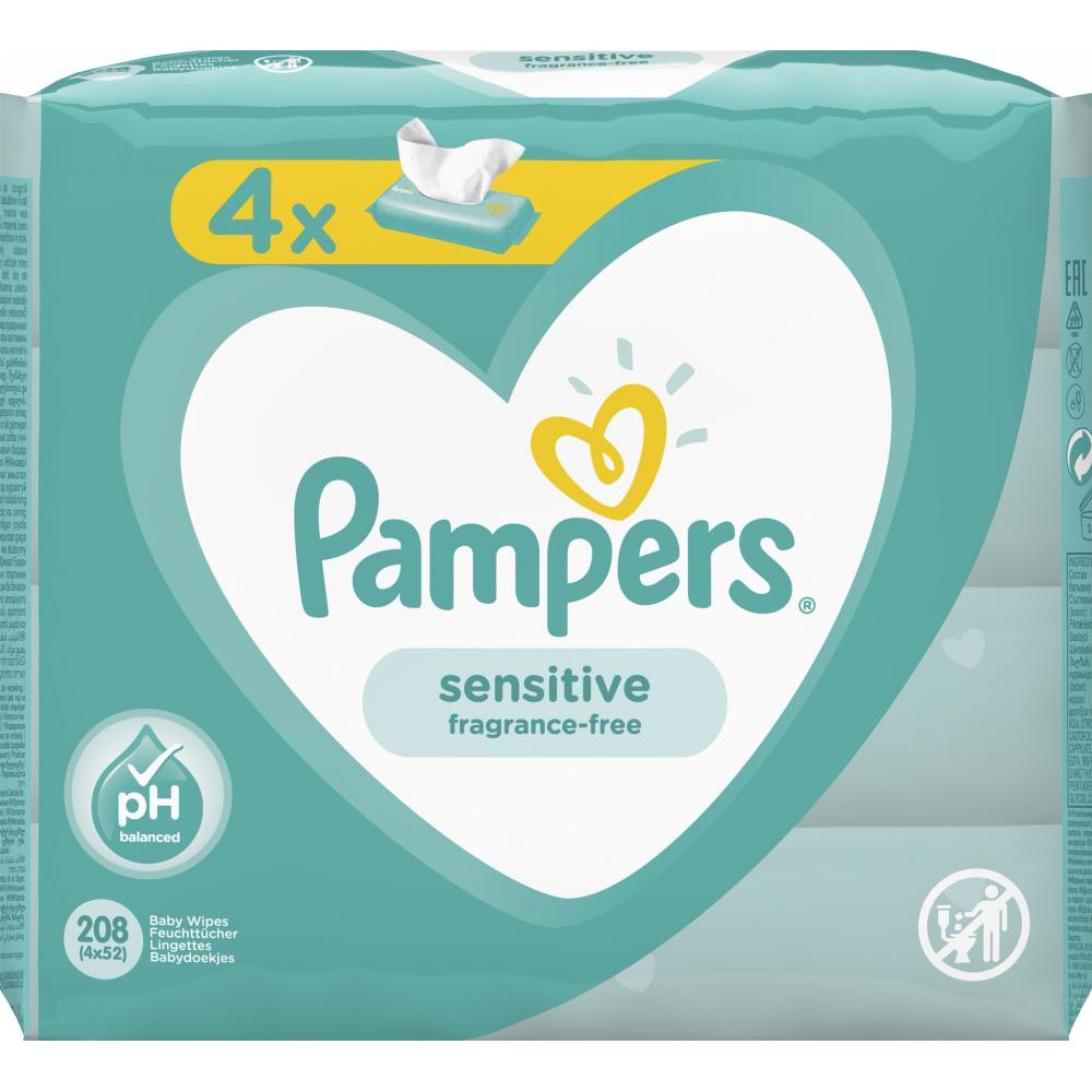 Pampers Ling.sensitive 4x52