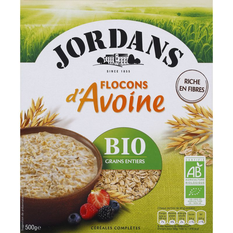 Flocons D'avoine Bio 500g