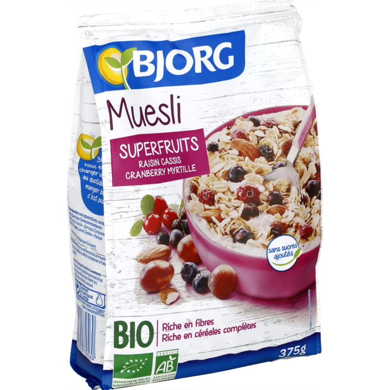 Muesli Superfruits 375g Bj Bio