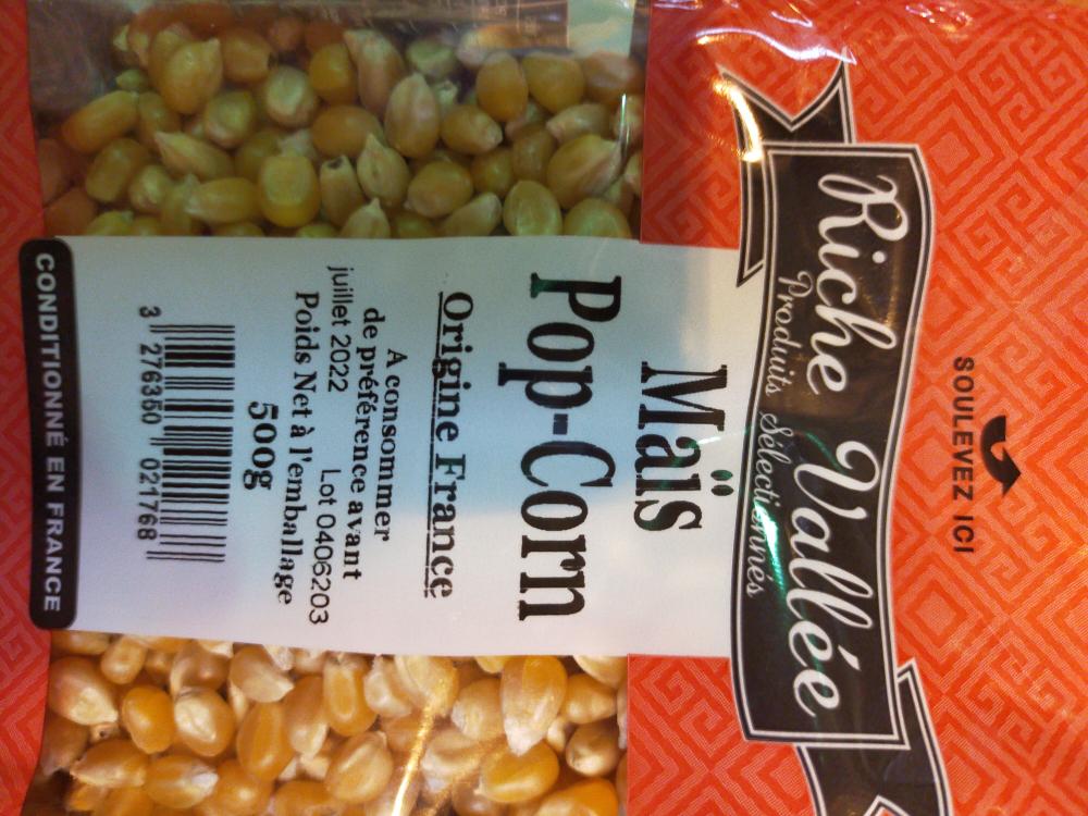 Mais Pop Corn R.v 500gr Fce