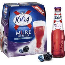 Biere 1664 Mure/myrtille 6x25c
