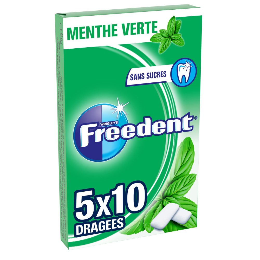 Freedent M.verte.5x10d 70g