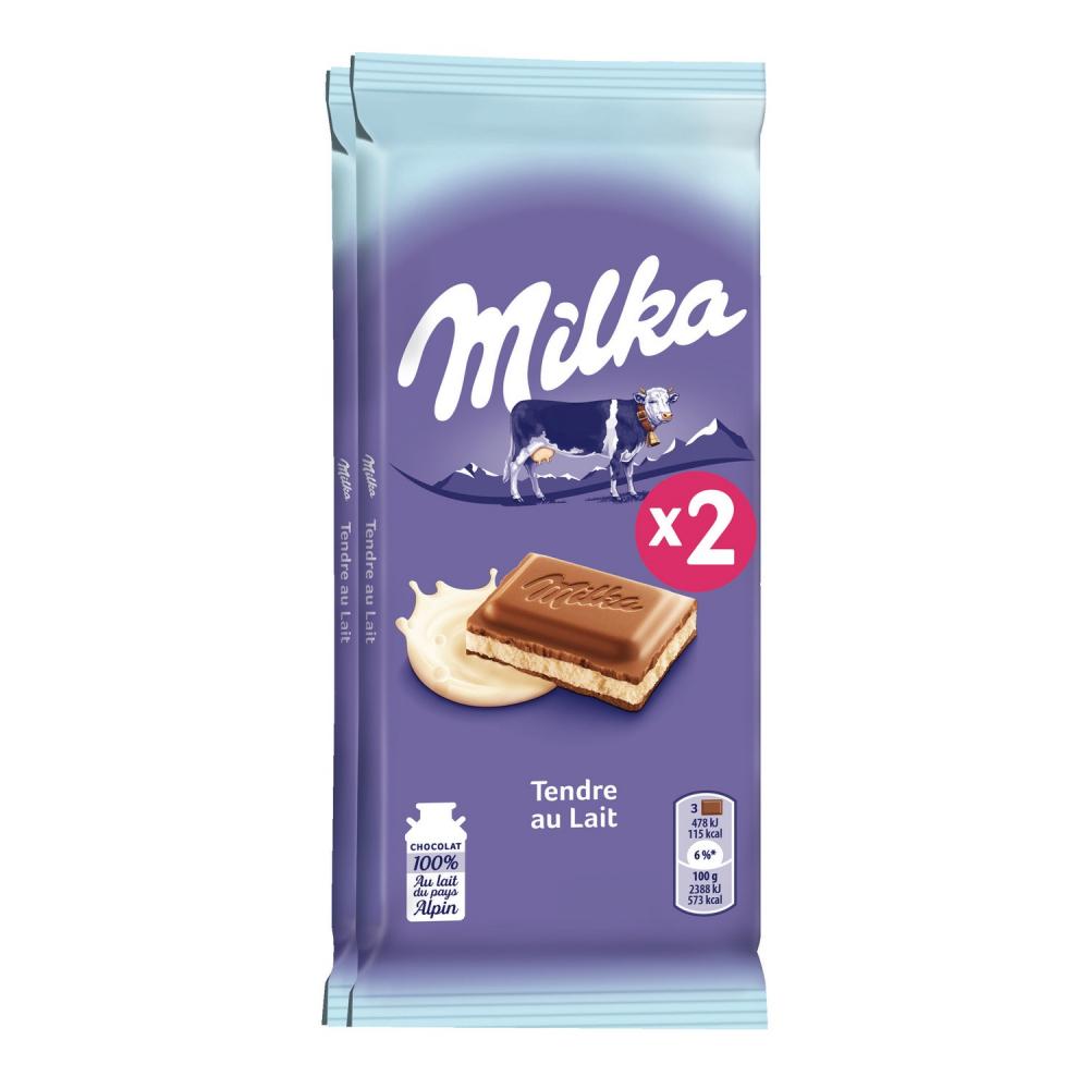 Milka Tendre Au Lait 2x100g