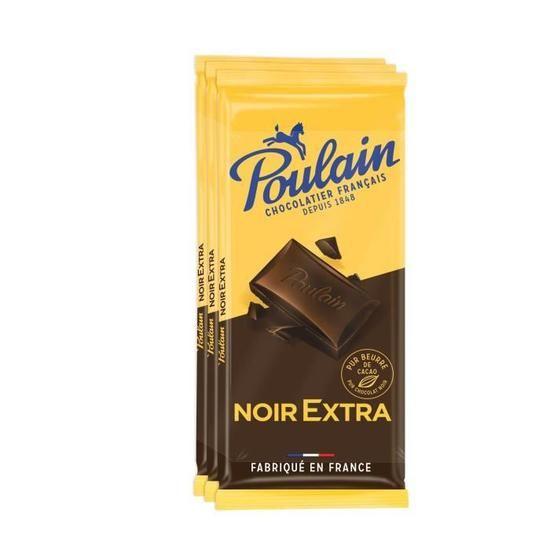 Poulain Noir Extra 3x100g