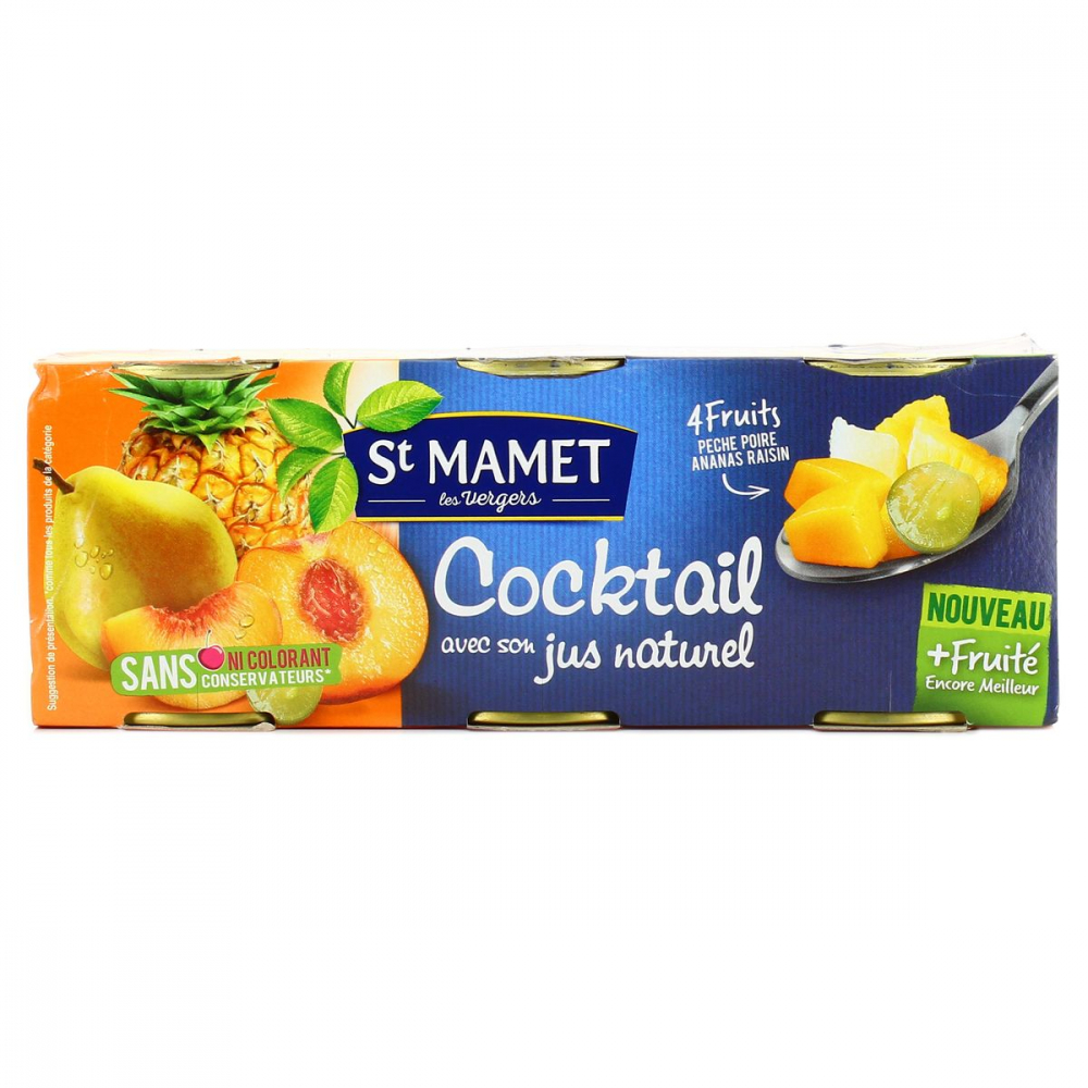 Cocktail Fruit 3x125g