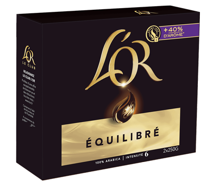 Cafe L Or Equilibre Moulu 2x25