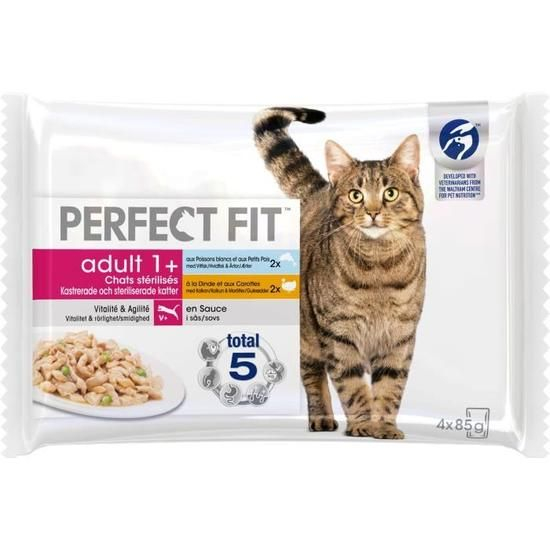 Perf Chat Dinde Pois 4x85g