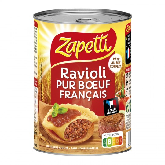 Ravioli Pur Boeuf Ble Complet