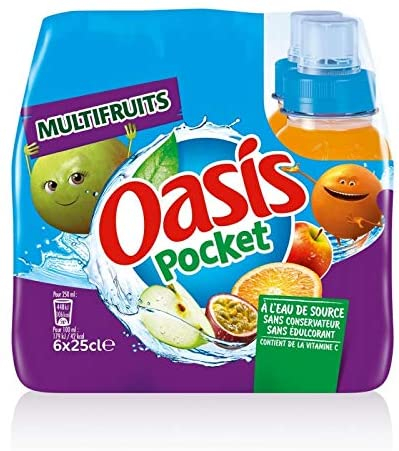 Oasis Push Pull Multifruits 6x25cl