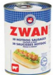 Saucisses hot dog ZWAN poulet boeuf