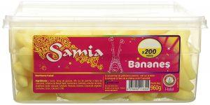 Bonbons Bananes Tubos 200 Pièces 960g Samia