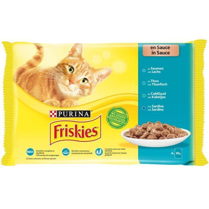 Friskies Chat En Sauce 4x85g