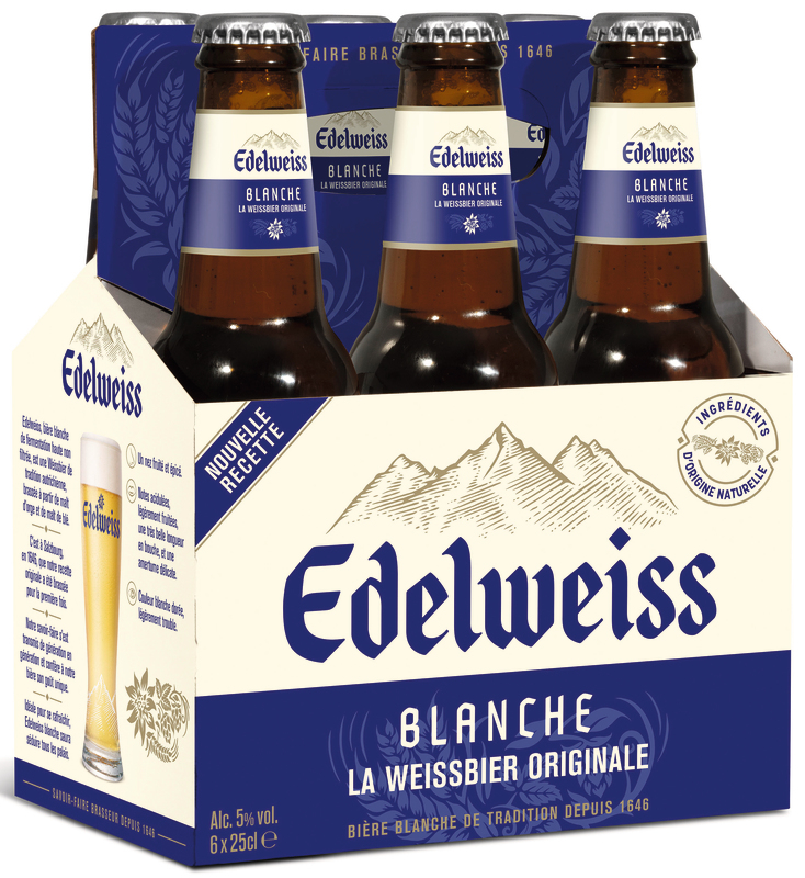 Biere Edelweiss 6x25cl 5d